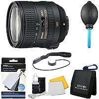 Nikon AF-S NIKKOR 24-85mm f/3.5-4.5G ED VR Lens (2204). Bundle Includes 3pc. Lens Cleaning Kit, Digital Grey Card Set, Dust Removal system, Memory Card Wallet, and More.