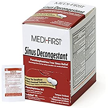 Medique 80933 Medi-First Sinus Decongestant, 100 Tablets