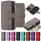 Galaxy Note 5 Case, Note 5 Case iNNEXT Note 5 Wallet Case Premium PU Leather Folio Book Style Multiple Card Slots Cash Pocket with Magnetic Closure Case Cover for Samsung Galaxy Note 5 (Grey)