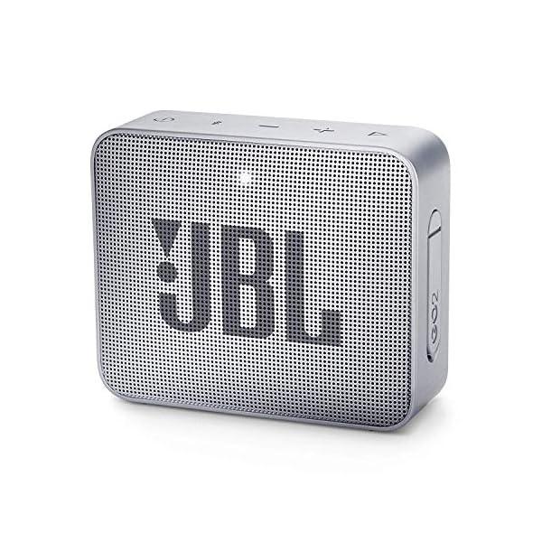 JBL Go 2 - Mini enceinte Bluetooth Portable - Étanche pour Piscine & Plage Ipx7 - Autonomie 5hrs - Qualité Audio JBL - Gris 1