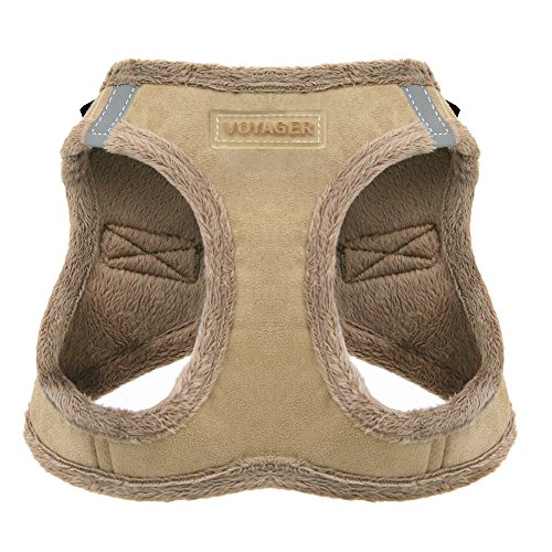 Voyager Soft Harness for Pets - No Pull Vest, Best Pet Supplies, Extra Small, Latte Suede