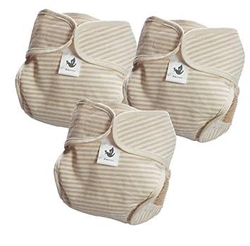 9e22d8010acbc Amoroso やわらかコットン 布おむつカバー 自然色 3枚組 セット(ナチュラル