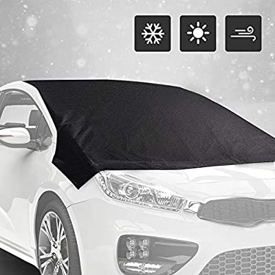Eutuxia Windshield Snow Cover – Ice Sun Frost Water and Wind Proof, All Weather Cover with Magnets for Cars, Trucks, SUV, Vans