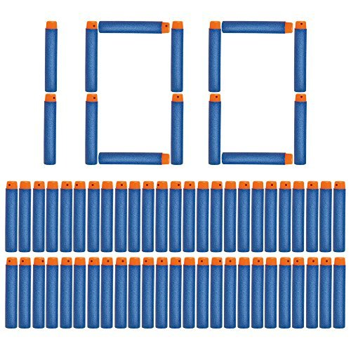 100 Dart Refill Pack for Nerf N-Strike Elite | Our Nerf Darts Are Compatible With All N-Strike Guns | Nerf Foam Toy Refill Bullets by NextX Toys