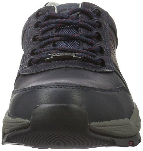camel active Evolution Gtx 20, Zapatos de Cordones Oxford para Hombre Azul (midnight/grey 02)