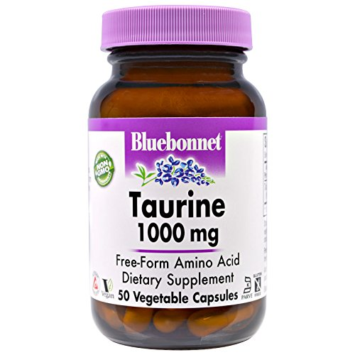 (Bluebonnet Nutrition, Taurine, 1,000 mg, 50 Veggie Caps - 3PC)