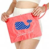 Knitting Factory Water Proof Wet Bikini Bag Selection (Whale PInk)