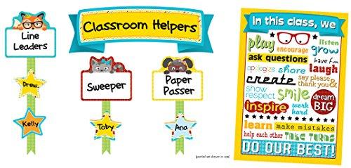 Carson Dellosa Hipster Classroom Management Bulletin Board Set (110337) (Chart Job Assignment)