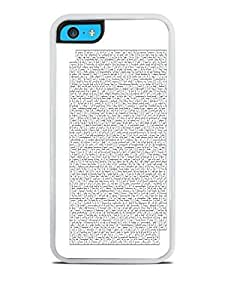 Crazy Labyrinth Maze White Silicone Case for iPhone 5C