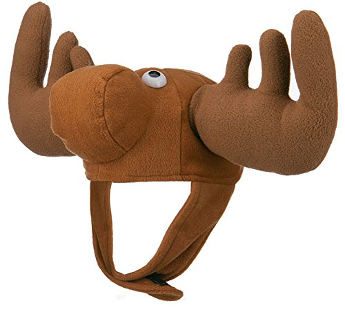 Crazy Moose Novelty Costume Hat (Adult Novelty Hats)