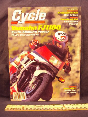 Photo 1984 84 June CYCLE Magazine (Features: Road Test on Yamaha FJ1100L / FJ 1100 L, Kawasaki KX125, & Yamaha RZ350L / RZ 350 L, + Honda VT500 Shadow, Suzuki GS550ESE / GS 550 ESE, & Honda VT500 Ascot)