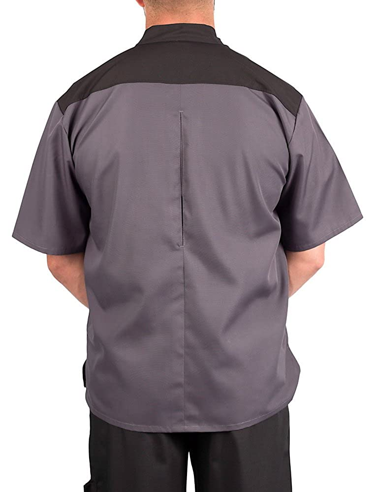 KNG Lightweight Uptown Snap Front Chef Coat