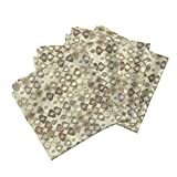Roostery Droplets Organic Sateen Dinner Napkins Gouttelette Natural by Scrummy Set of 4 Cotton Dinner Napkins Made