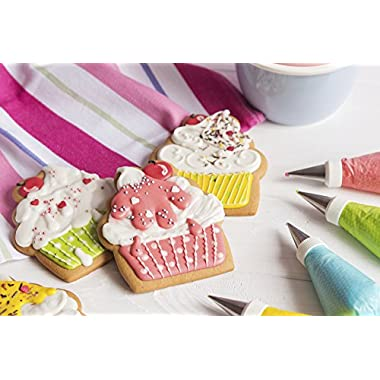 Cake Decorating Kit - Great for Cakes Cupcakes and All Deserts - 24 Tips for All Styles and Occasions - Works with All Icing and Frosting