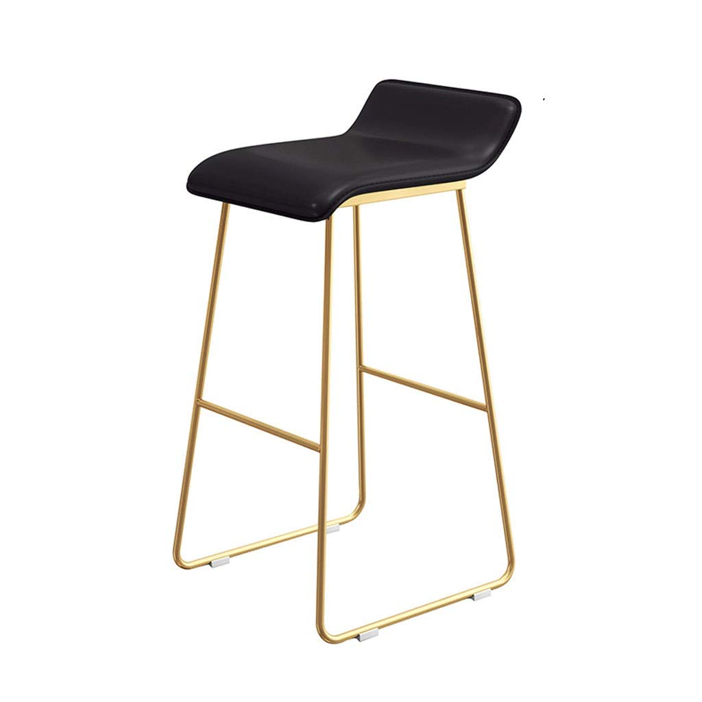 D 80cm Leisure Stool Wrought Iron Bar High Stool Creative Bar Stool Living Room Dining Chair Leather Cushion Anti-Slip Stool (color   E, Size   85cm)
