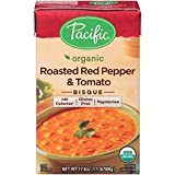 tomato bisque - Pacific Foods Organic Roasted Red Pepper And Tomato Bisque, 17.6-Ounce Cartons, 12-Pack