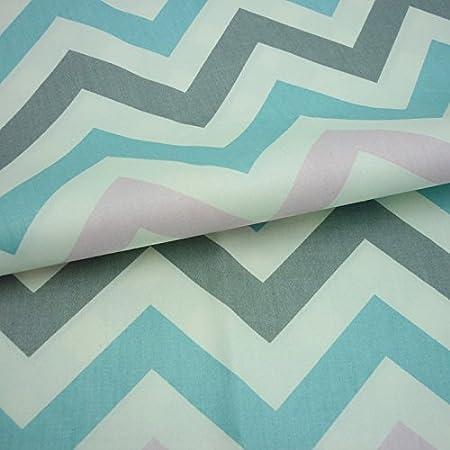 tela de algodón impresa en zigzag de una pieza 50cm * 160cm ,telas ...