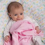 Baby-Muslin-Swaddle-Blankets-with-Matching-Dribble-Bibs-Premium-Cotton-Swaddle-Blanket-Set-of-4-Large-47-x-47-inches-Cute-UnicornRainbow-Designs-by-Little-Tinkers-World