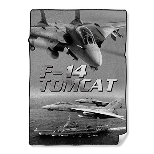 Personalized Throw Blanket Printing USAF Air Force America Navy F-14 Tomcat Painting Photo, 58X80 Inch