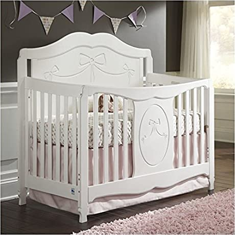 Pemberly Row Fixed Side Convertible Crib In White