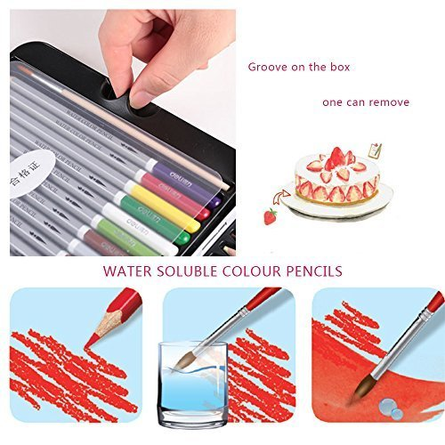 Fantasy Holiday Water Soluble Color Wooden Pencils IzBuy 36 Premier Soft Core Art