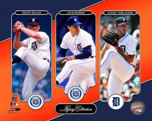 Denny McLain, Jack Morris, Justin Verlander Detroit Tigers Photo (Size: 8