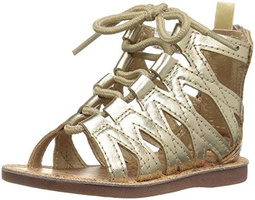 OshKosh B'Gosh Priya Girl's Gladiator Sandal, Gold, 11 M US Little Kid (Girls Gladiator Sandals)
