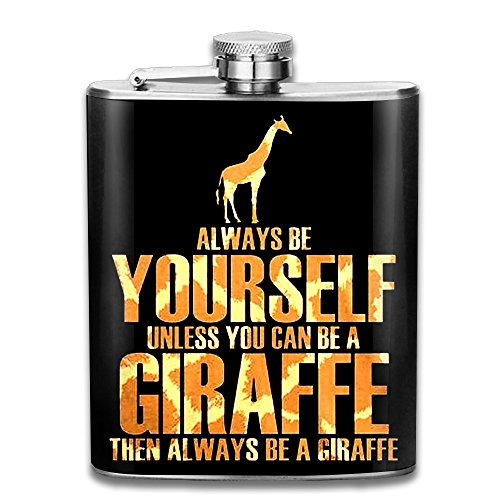 Cool Halloween Costumes Tumblr (Giraffe Flasks Stainless Steel Cool Liquor Flagon Retro Rum Whiskey Alcohol Pocket Flask Liquor Flagon Retro Rum Whiskey Flask Great Little Gift 7OZ)