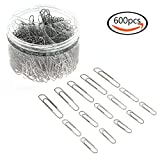 #6: JPSOR Paper clip—600 28/33/50mm Silver Paper Clips, for Office and Personal Document Organization (silver)