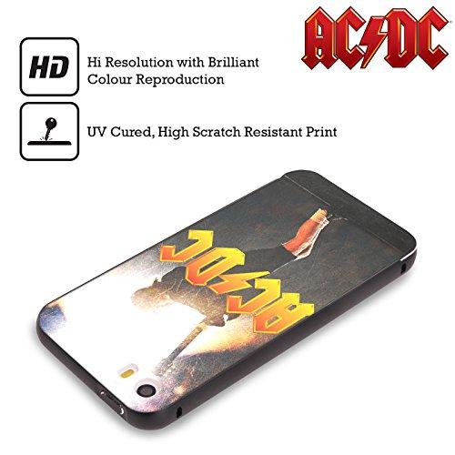 Officiel AC/DC ACDC Angus Young Concerte Solo Noir Étui Coque Aluminium Bumper Slider pour Apple iPhone 6 Plus / 6s Plus