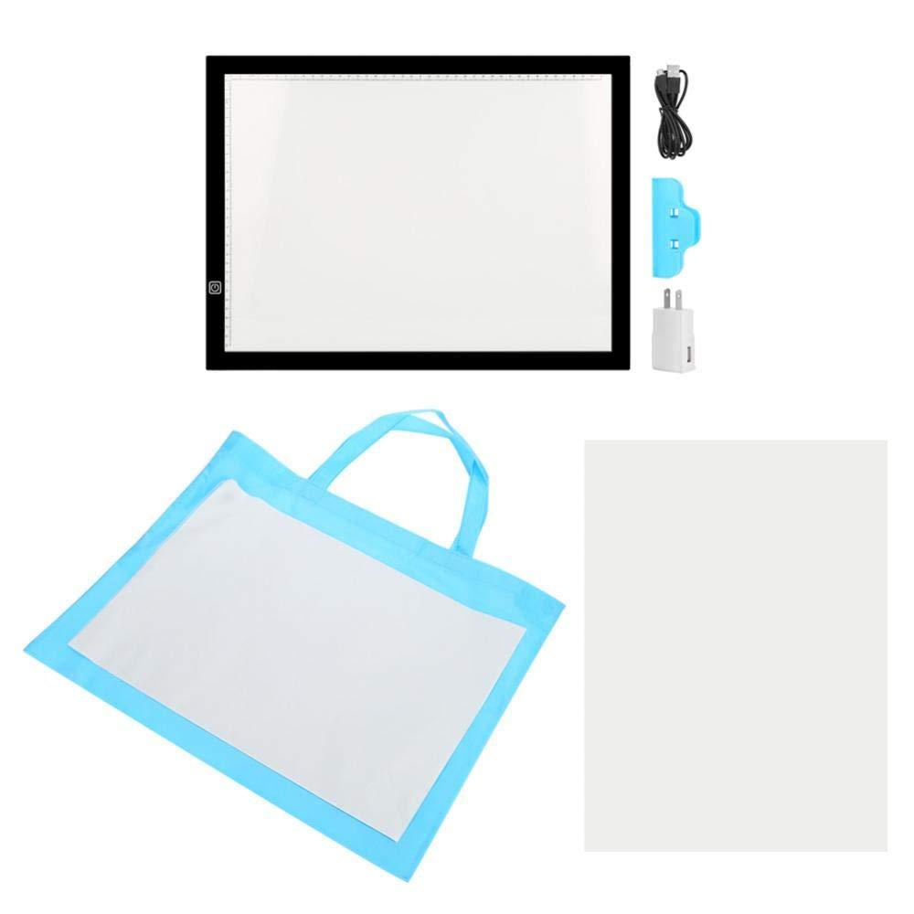 EBTOOLS Tracing Light Box, A3 LED Light Box Tracing Board Art Design Stencil Drawing Thin Pad Copy Lightbox US 110V