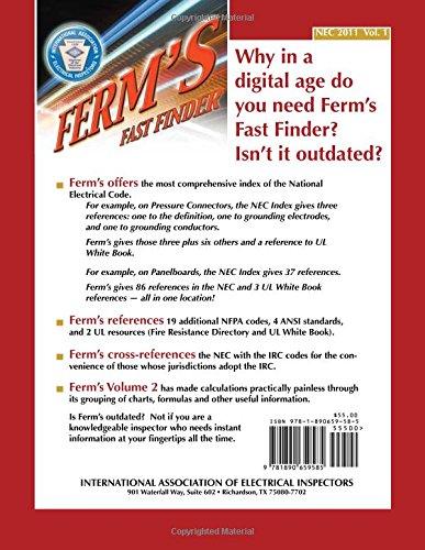 Ferm's Fast Finder Index, NEC-2011: International