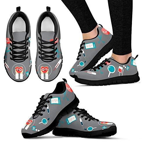Medical Tennis Walking Flats Footwear Womens Coloranimal 2 Sneakers Running Lightweight Nurse Mesh Air 4PxSaO