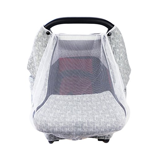 PROKTH Baby Stroller Gray Air Layer Mosquito Net, Sun Protection Sunshade Heat Insulation Cooling Polyester Cotton Cover Towel Sunshield by PROKTH