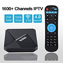 Goldenbox 2019 International IPTV Receiver Box with Lifetime Subscription for 1500+ Global Live Channels Including North American European Asian Arabic South American Programs