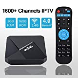 International IPTV Receiver Box with Life-time Subscription for 1600+ Global Live Channels 2GB 16GB IPTV Include North American European Asian Arabic India Programs