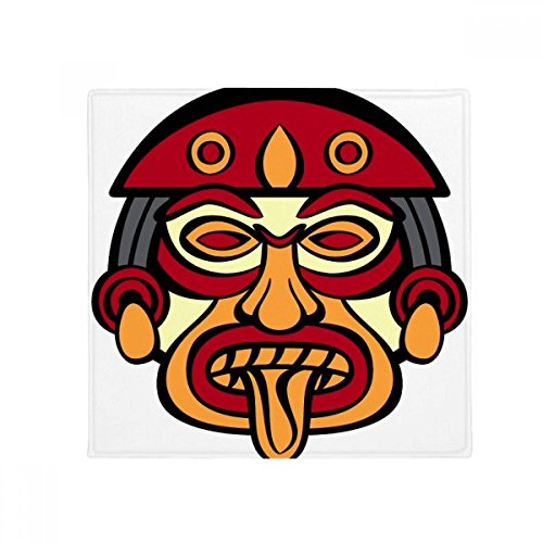 DIYthinker Indian Abstract Art Drawing Totem Pole Face Anti-Slip Floor Pet Mat Square Home Kitchen Door 80cm Gift