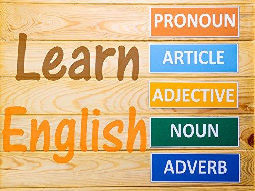 English Poster Chart - Classroom Chart Wall Art hi gloss English Teacher Posters Adverb,