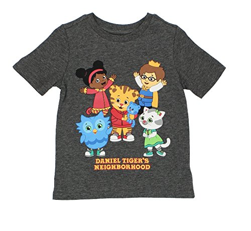 Daniel Tiger's Neighborhood Toddler Boys Short Sleeve Tee (2T  Dark Grey) -