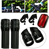 Twin Flashlight Set Safety Night Light Accident Protection LED Signal Zoom in-out Changeable Suit for Outdoor Activities, Camping, riding, home tools Easy Install IO-B3