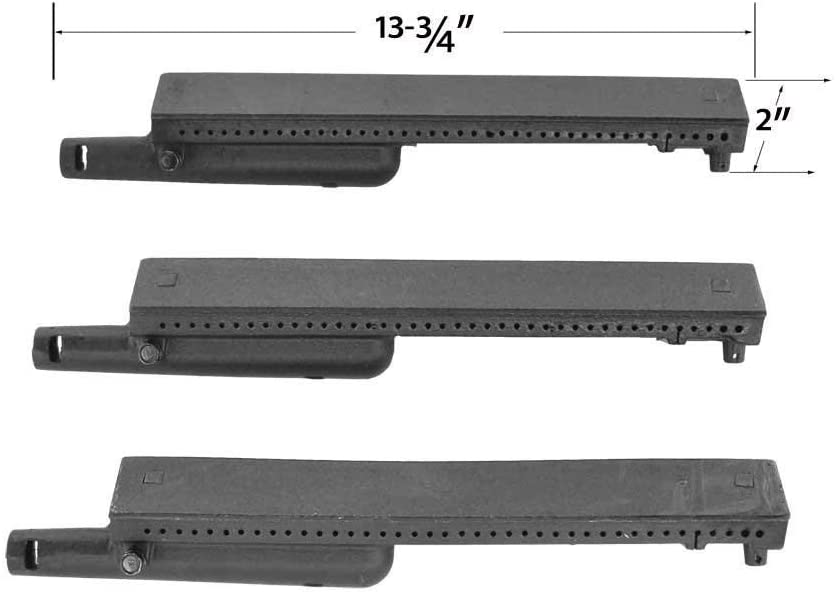 set of 3 Thermos 461230403 461230404 Gas Grill Replacement Cast Iron Burner