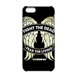 JiHuaiGu (TM) iPhone 5c funda The Walking Dead Daryl Dixon ALAS DURO personalizado temático iPhone 5c funda OK1408