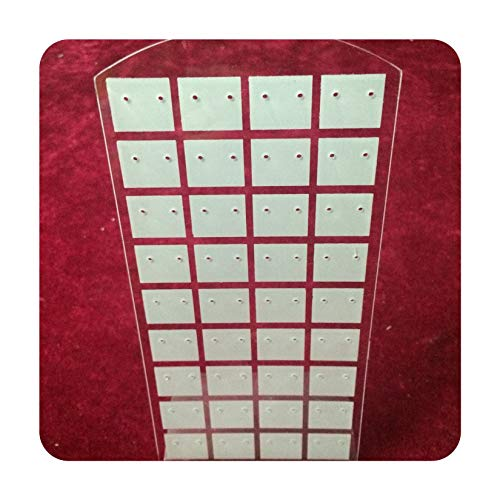 fwoeo Plastic Earrings Display Stand or Convenient Jewelry Holder Show Case Tool Rack Organizer,72 Holes White
