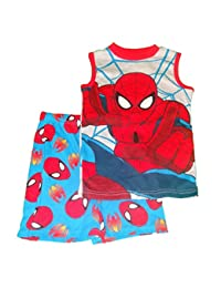 Spiderman Big Boys Shorts Pajamas Set