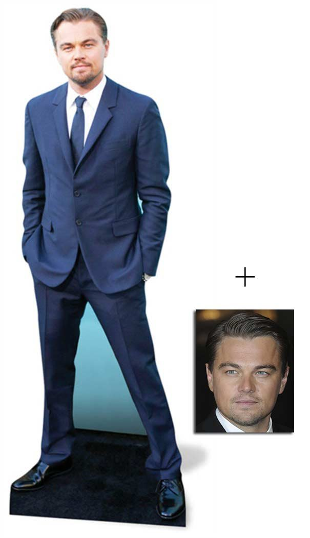 Fan Pack - Leonardo DiCaprio Lifesize Cardboard Cutout / Standee - Includes 8x10 (20x25cm) Star Photo by Starstills UK Celebrity Fan Packs