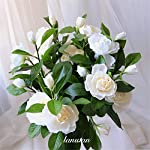 Tuuertge-Artificial-Plastic-Plants-Gardenia-Flowers-Artificial-Silk-Bouquets-Wedding-Home-Decoration-for-Wedding-Party-Home-Garden-Fake-Plastic-Plant-Color-Yellow-Size-One-Size