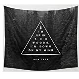 Flymall Luxury Handmade Tapestry Comfortable Oversized Living Room Cover Blanket for Adult or Teens Resting and Reading (Black Wood)