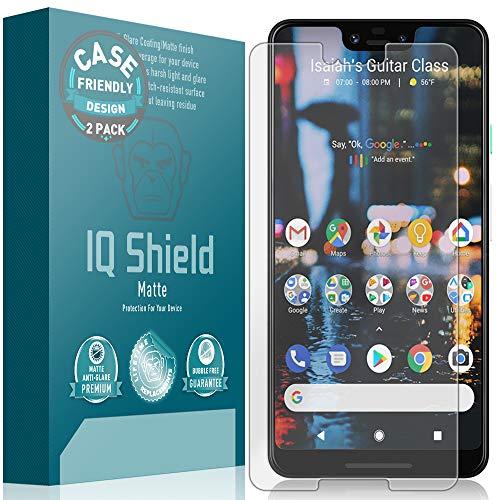 IQ Shield Matte Screen Protector Compatible with Google Pixel 3 XL (Case Friendly)(2-Pack) Anti-Glare Anti-Bubble Film