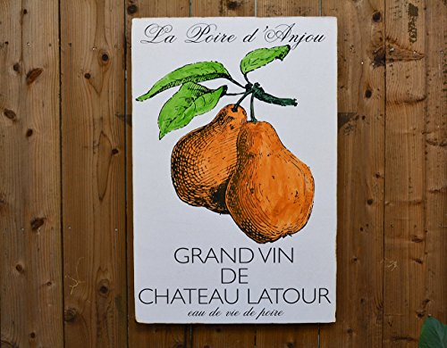 La Poire: 24x36'' - French Pear Salvaged Wood Wall Decor - Handmade in Sonoma Valley, CA - Perfect for Home or Office - Rue Sonoma Original Design by Rue Sonoma