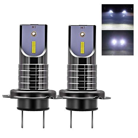 2x H7 Luces Delanteras del Coche Kit,Auto Car 6000 K 13000LM H7 Kit de faros LED Bombillas ...